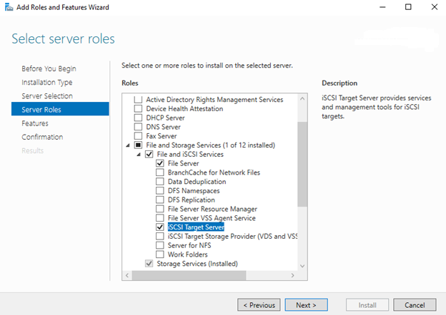 Enable iSCSI feature on Domain Controller server for SQL Server always on availability groups