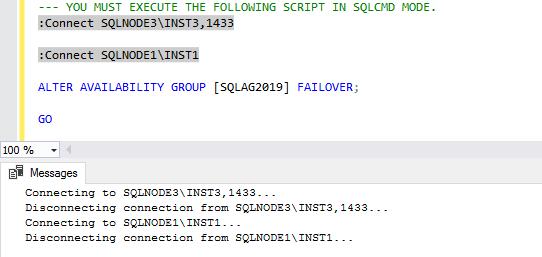 Execute the script