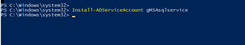 Install Group Managed Service account on the target node