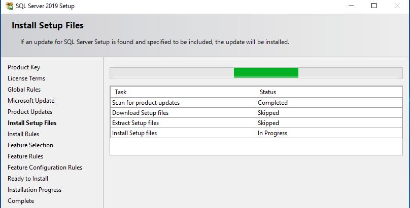 Install setup files