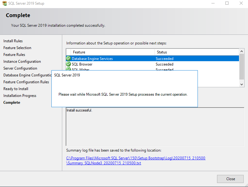 Install SQL Server 2019 and enable AG feature