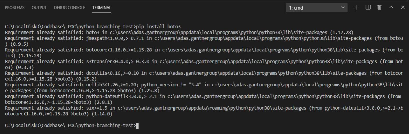 Installing the AWS SDK for Python - Boto3