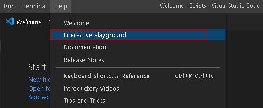 Iniciar o Playground interativo