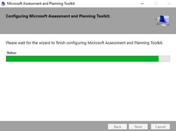 Assistente de instalação do Microsoft Assessment and Planning Toolkit