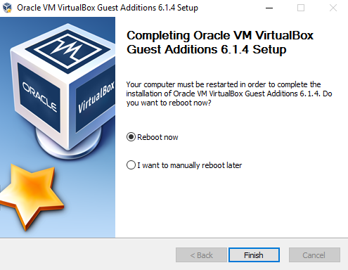 Reboot VM