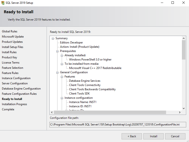 Review your SQL Server 2019 configuration