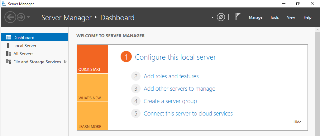 Server Manager configuration for SQL Server Always-On Availability Groups