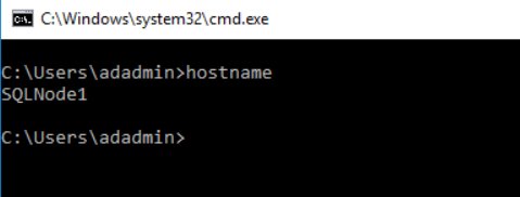 SQLNode1  host name