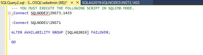 View script in SQLCMD mode