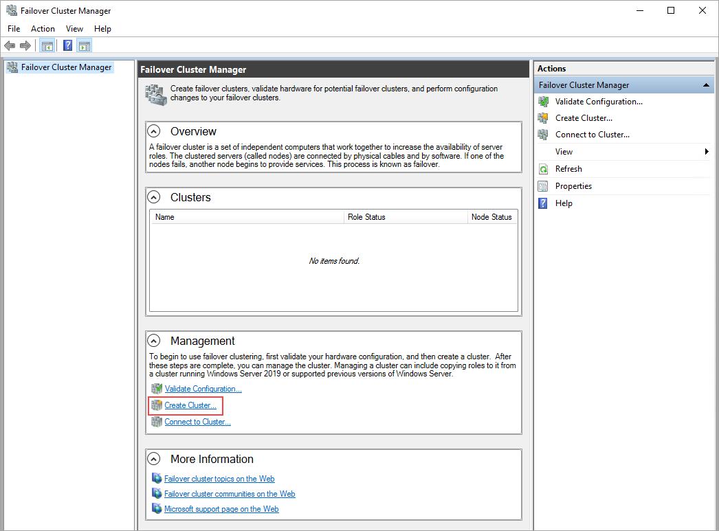 Cluster de failover do Windows