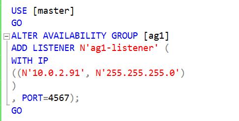 Create a SQL Listener