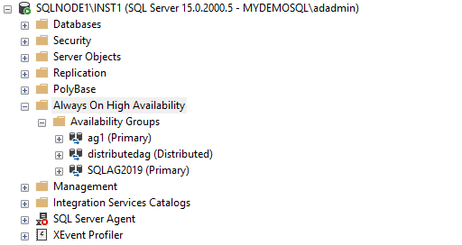 distributed SQL Server Always On Availability Group
