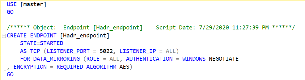 Endpoint script
