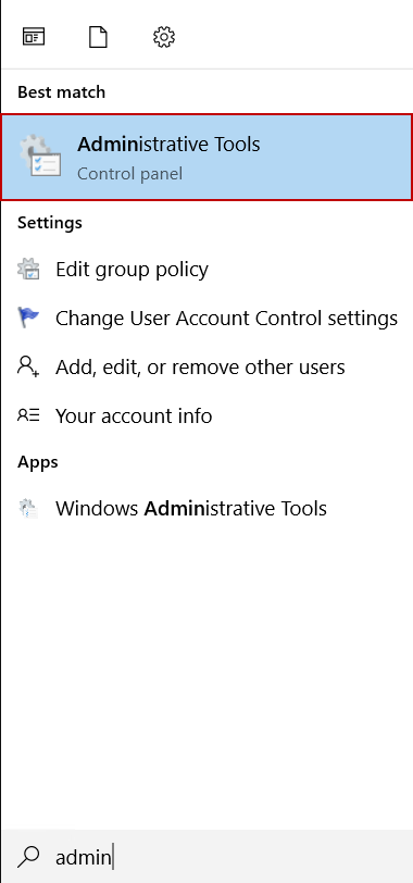 Launch Administrative Tools
