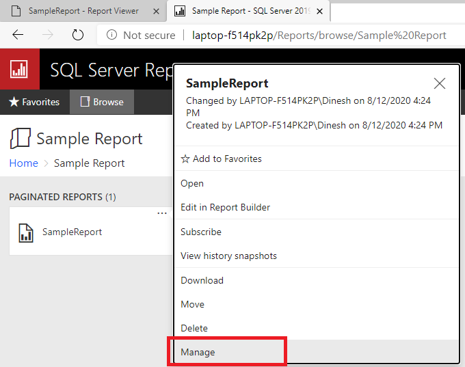 Mange option in SSRS to create Subscriptions in SSRS.