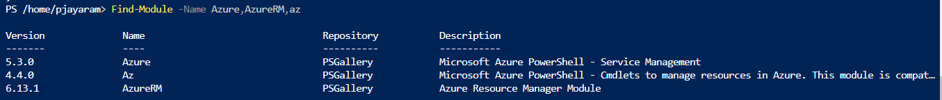 Powershell Automation Azure CLI modules