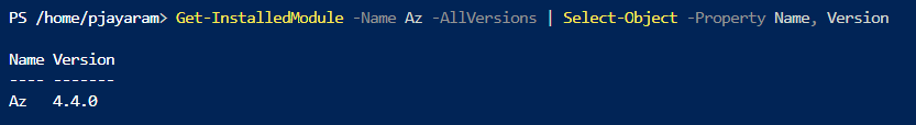 PowerShell automation modules - List the installed modules