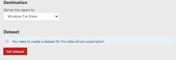 Selecting the Delivery method in Data-Driven Subscription