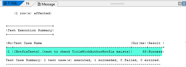 Test to check if object exists has passed