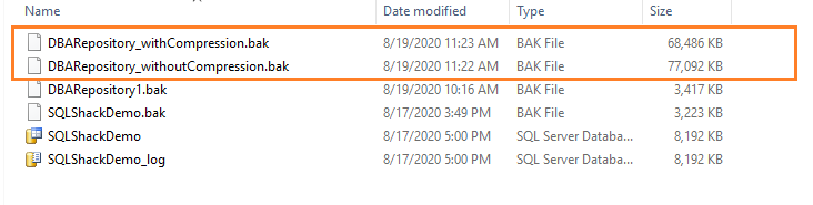 compressed full database backup in SQL Server Always On Availability Group