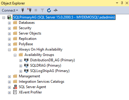 Configure an SQL Server Always On Availability Group for the distributed transactions