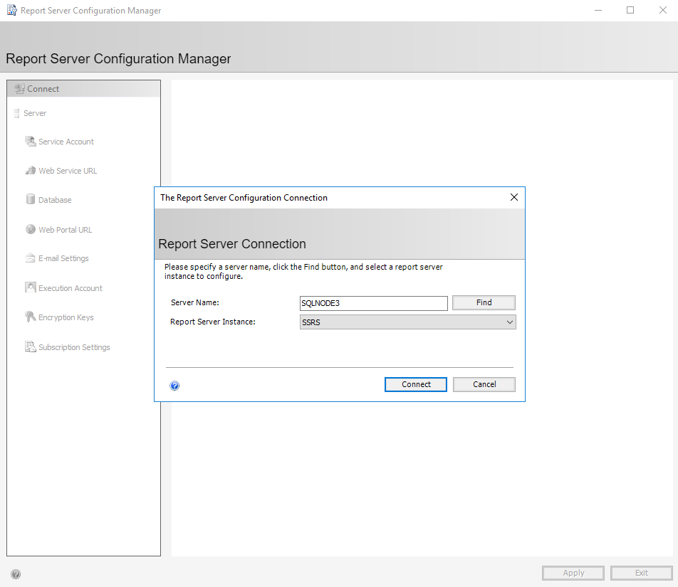 configure the report server