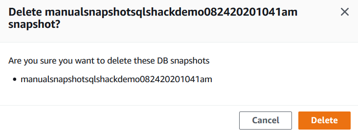 Confirm the deletion