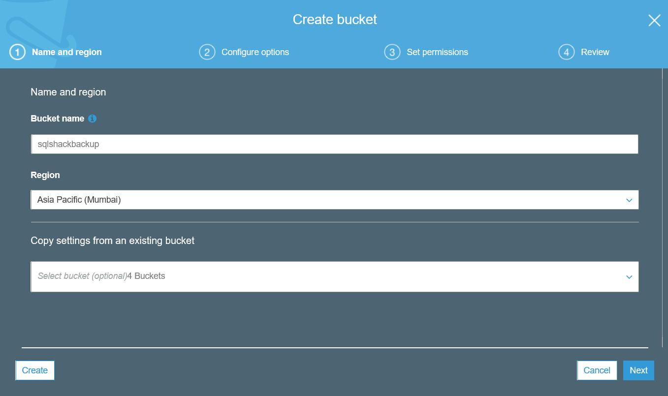 Create an AWS S3 bucket