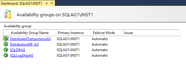 Explore AG dashboard for SQL Server Always On Availability Groups