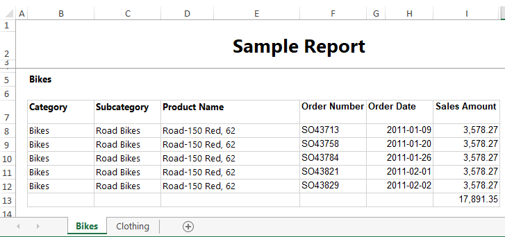 Exporting SSRS Reports to Multiple Sheets of Excel.