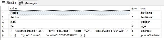 Manipulating JSON in SQL Server