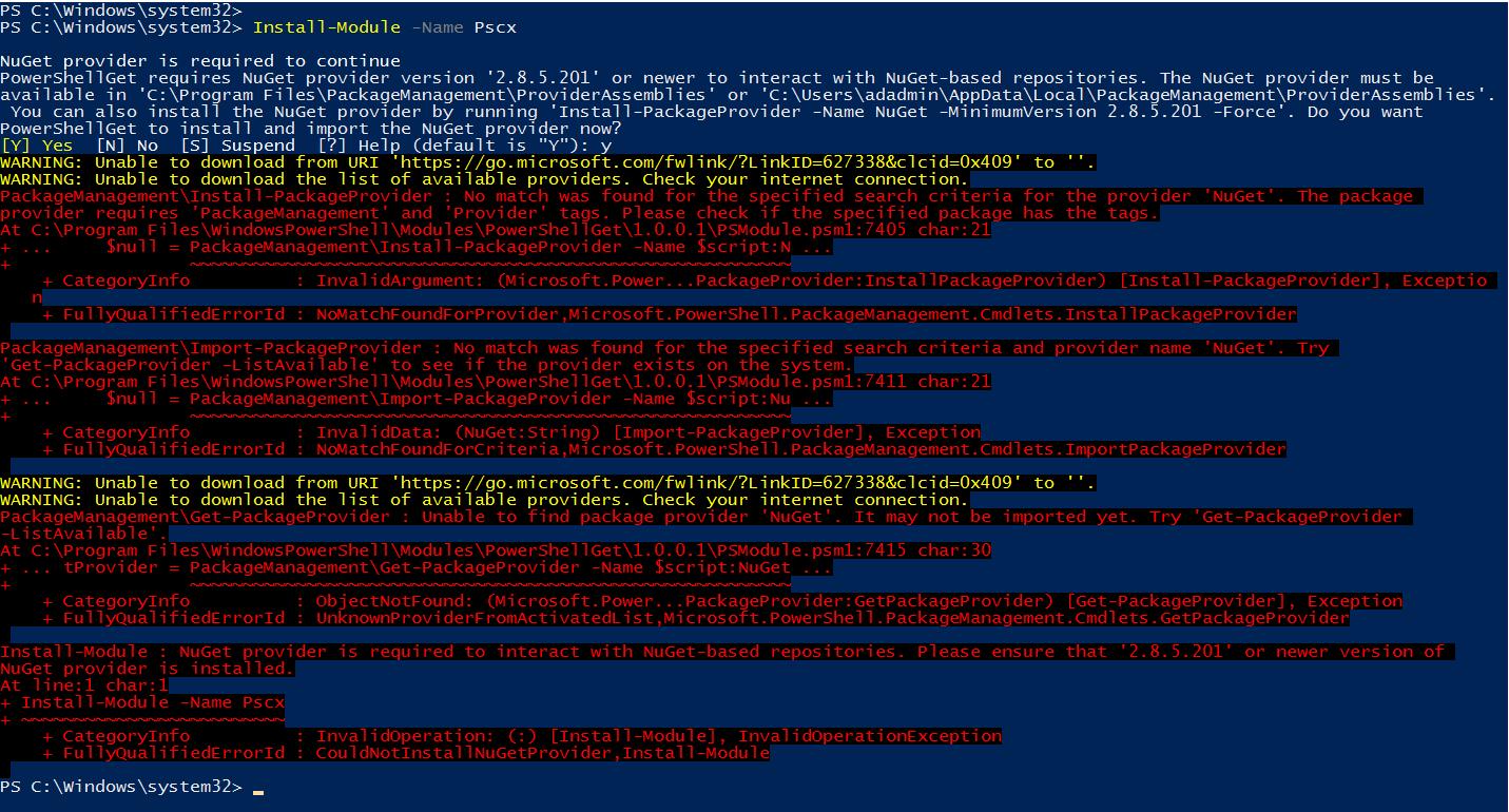 PSCX module in Windows PowerShell