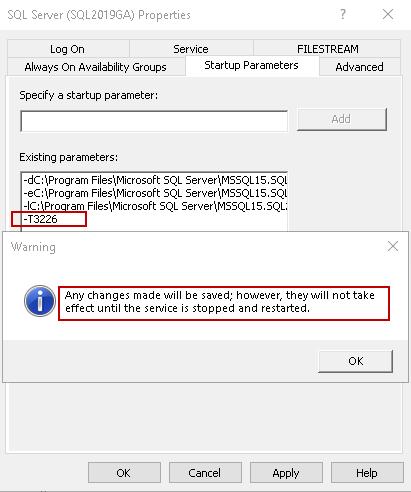 Reinicie o serviço SQL