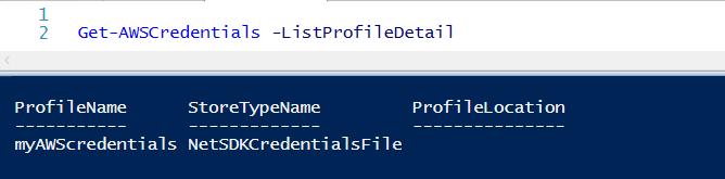 Set AWS credentials