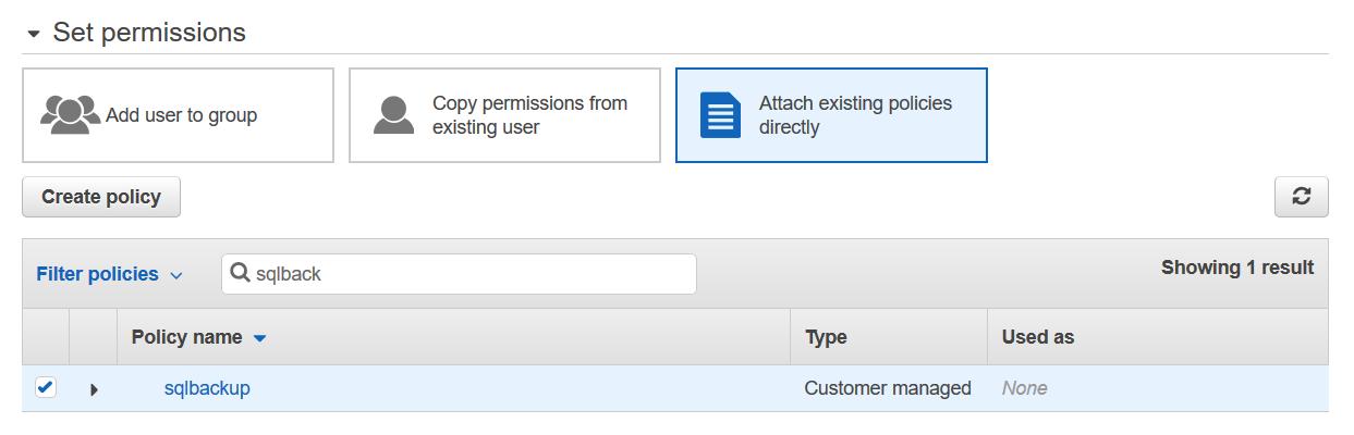Set permissions