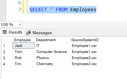 SourceSystemID added to the Database