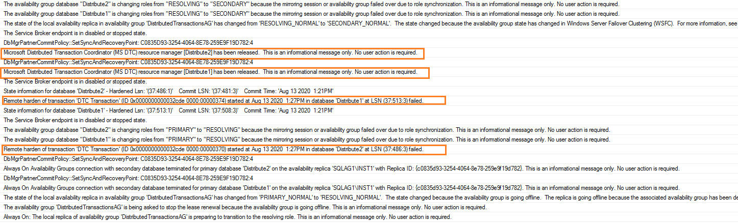 SQL Server error logs