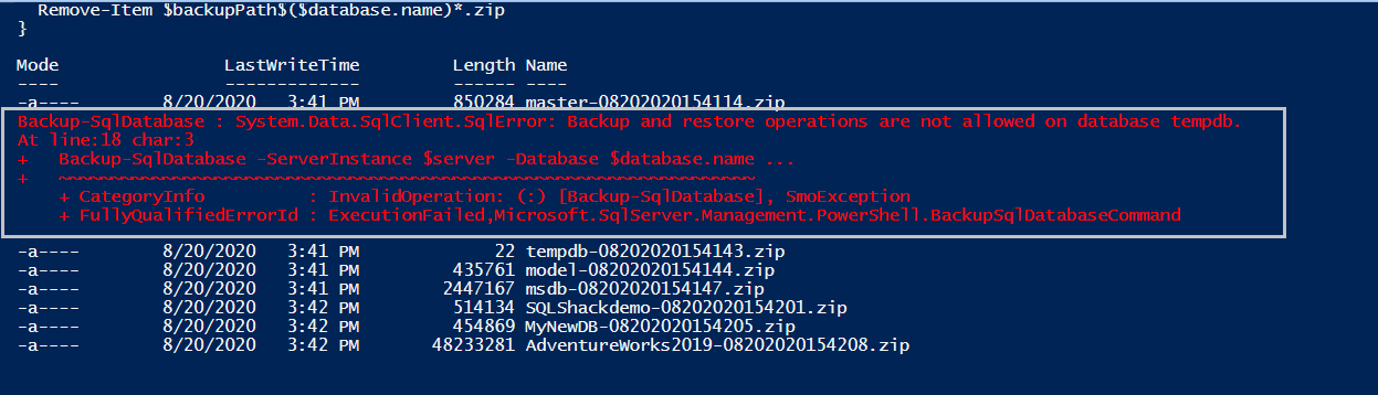 View PowerShell Output