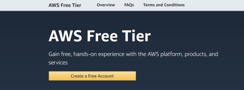 a free-tier account in Amazon web console