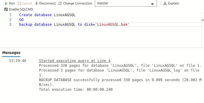 Create a sample database