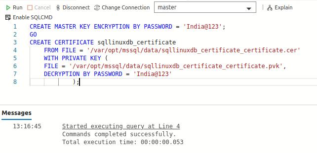 create the Certificate