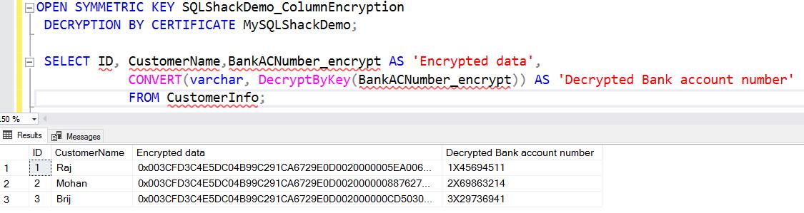 decrypt data in the new primary replica