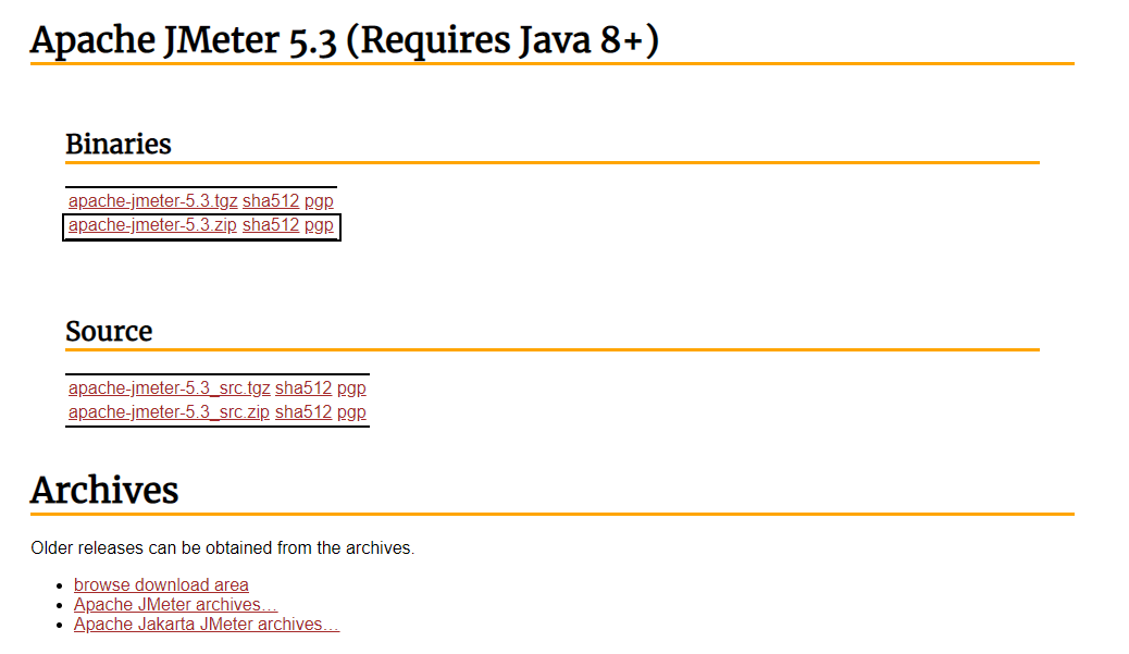 Download Apache JMeter