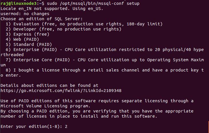Edition of SQL Server