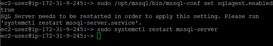 Enable SQL Server Agent