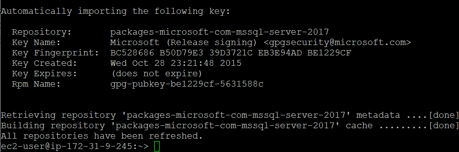 Microsoft package signing key