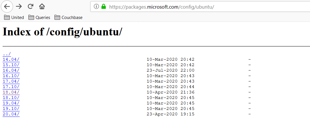 Register the SQL Server 2019 Ubuntu repository