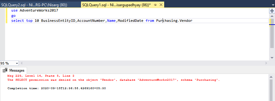 Select Query error
