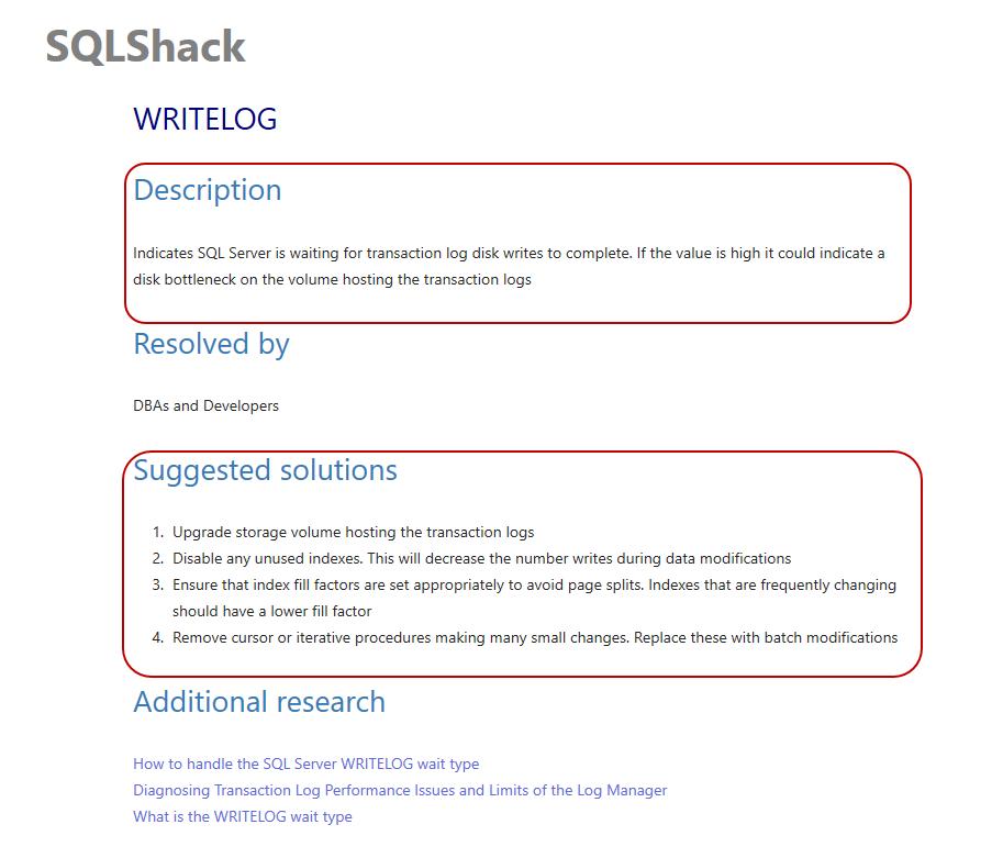 Troubleshooting WRITELOG wait type to increase SQL Server Performance