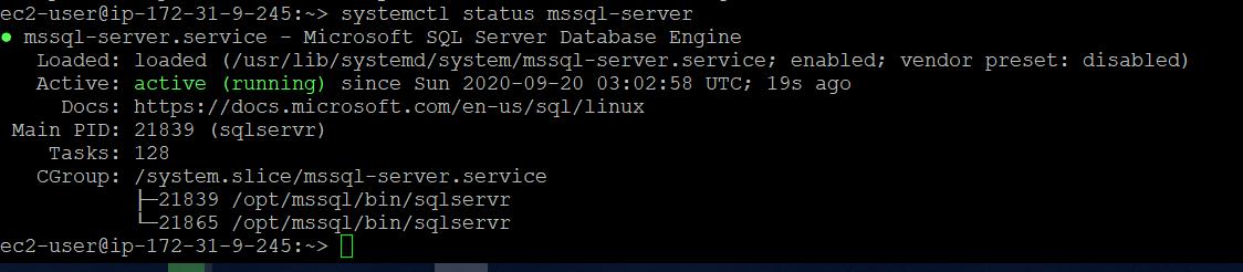 Verify SQL Service status